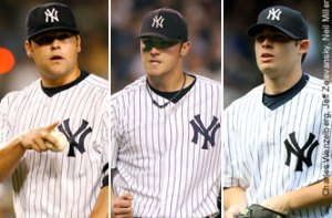 Joba Chamberlain, Phil Hughes, Ian Kennedy (Courtesy of NY Post)