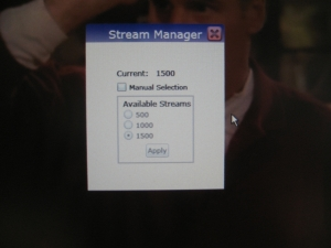 Figure 4: Open up the Stream Manager Menu